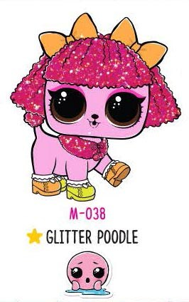 Glitter Poodle