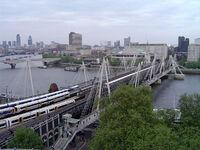 Hungerford Bridge, River Thames, London, England.jpg