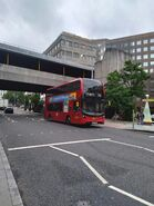 A bus on route 343 at London Bridge