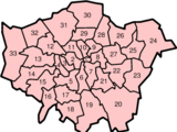 List of Greater London Boroughs