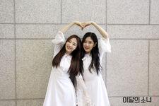 170507 SNS Inkigayo Diary HyunJin HaSeul 1