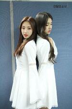 170430 SNS Inkigayo Diary HeeJin HaSeul