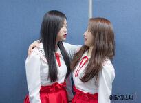 170319 SNS Inkigayo Diary HyunJin HaSeul