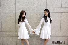 170507 SNS Inkigayo Diary HyunJin HaSeul 2