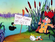 Daffy Duck and Egghead - T'aint funny, McGee Reference