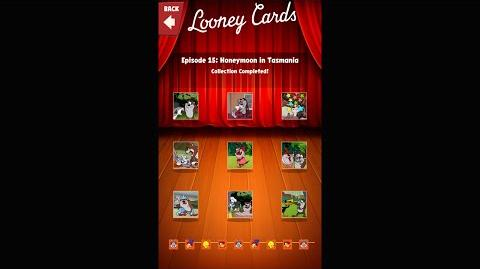 Looney Tunes Dash Card Collection Episode 15 Honeymoon in Tasmania