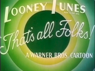 PAL Golden Jubilee Print (1986-1993) - 4. That's All Folks Title Card