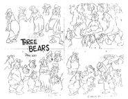 Looney tunes warner bros characters model sheet 45