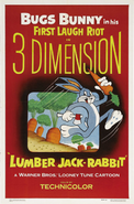 Lumber Jack-Rabbit Poster