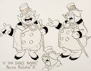 At your service model sheet