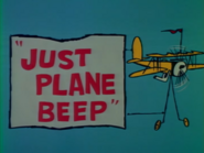 Just Plane Beep no bug