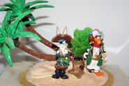Ron Lee's bugs bunny foghorn leghorn pirate scene