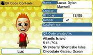 Lucas Dylan Maxwell QR Code Contents
