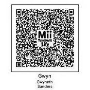 Gwyneth Sanders MiiTomodachi Life QR
