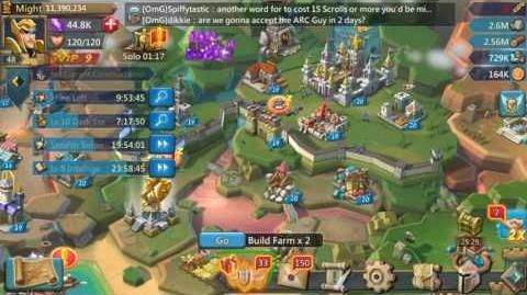 Lords Mobile How to change your home kingdom