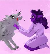 Ampelus and artemis' wolf