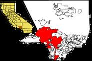 LA in LA County map