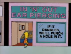 "In ""N"" Out Ear Piercing"