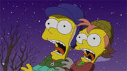 Bart y Charlie asustados