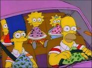 7G04 los simpsons con gelatina en el auto