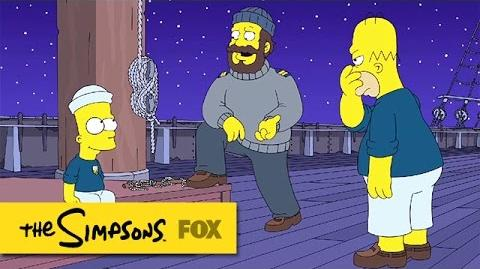 """Bart Ties A Perfect Halyard Cleat from """"The Wreck of the Relationship"""" THE SIMPSONS-0"""