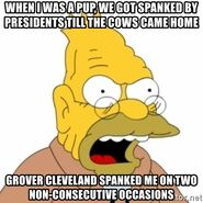 Grampa Simson Reference Grover-Cleveland