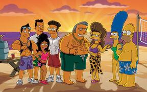 Fat Tony, Selma , Homer, Marge y los sibrinos de Fat Tony.jpg