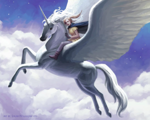 Sophie flying on Silveny