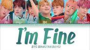 BTS (방탄소년단) - I'm Fine (Color Coded Lyrics Eng Rom Han 가사)