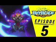 BEYBLADE BURST Episode 5- Into the Darkness! Dark Doomscizor!