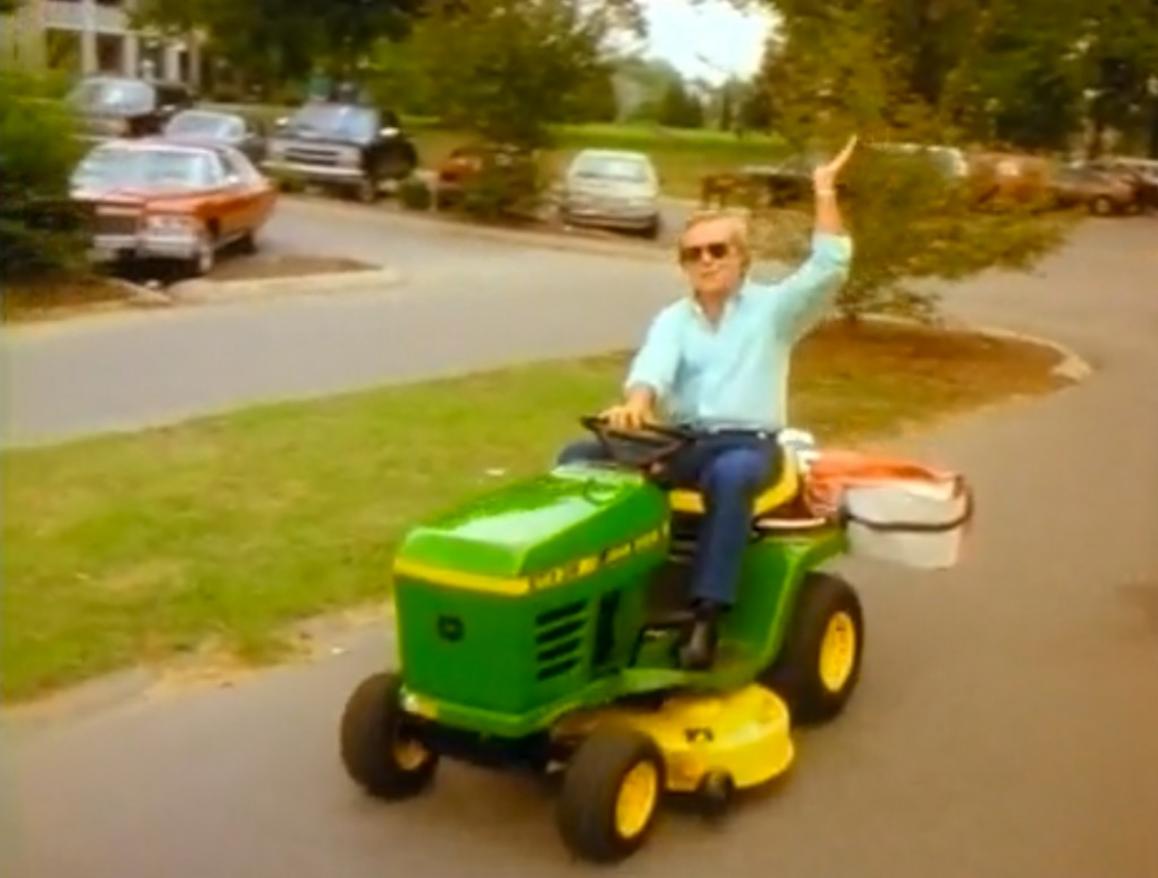 George Jones Drunk Driving a Lawn Mower Video