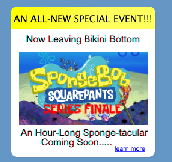 Now Leaving Bikini Bottom (cancelled finale to Spongebob Squarepants)