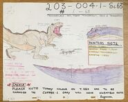 -4 Don Bluth - Original Production Cel + Copy Background + color model