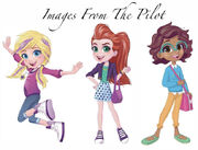 Polly, Shani and Lila as how they looked in the pilot