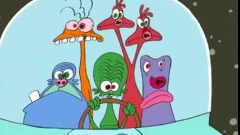 Space Goofs (Found 1999 intro and lost pilot and animation tests, 1996?)