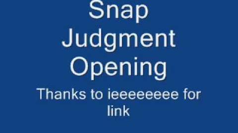 Snap Judgement 1967-69 Episodes (Lost Gameshow)