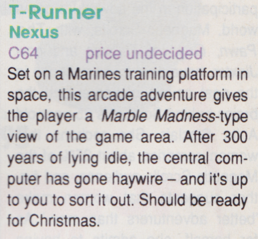 T-Runner(lost Commodore 64 game)