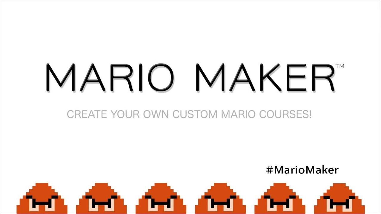 Super Mario Maker (lost demo E3 demo of Wii U game, 2014)