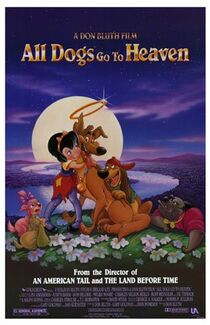 """All Dogs Go to Heaven"" Poster"