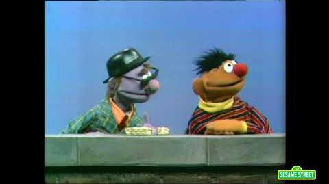 Ernie and the Pumpkin Seed Candy Salesman (found 1970 Sesame Street sketch)