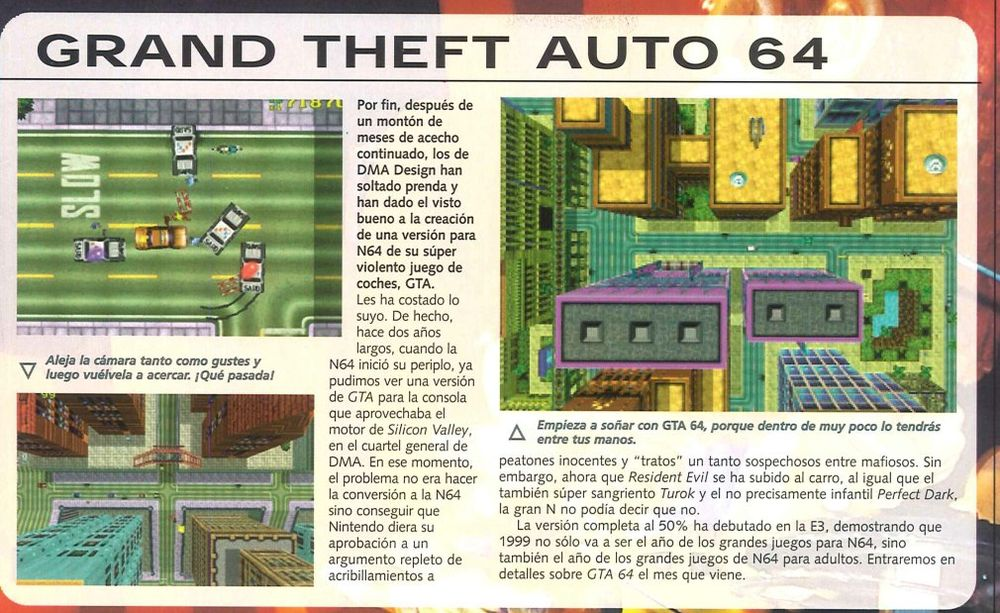 Grand Theft Auto 64 (Cancelled 1999/2000 Nintendo 64 Game)