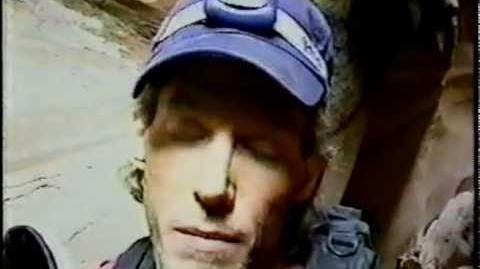 """Aron Ralston """"Early Eric Cartman"""" (Partially Found """"Blue John Canyon Incident"""" Video Diary 2003)"""
