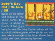 Baby's Day Out Game Boy Computer and Video Games UK 155
