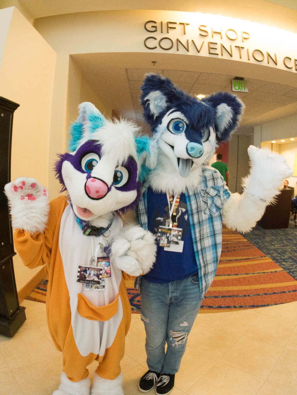 MegaKewlie and HowieHusky at Megaplex, taken by others! (pgasael Twitter Moment, missing pictures.)