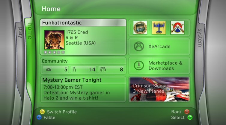 Xbox 360 Dashboard 2.0.1476.0/Unreleased date