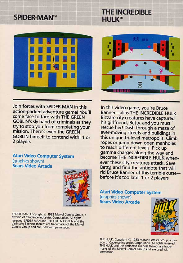 The Incredible Hulk (1983 Atari 2600 Game)