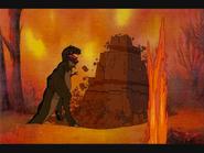 Sharptooth during Great Earthshake (Lost Scene)