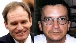 Armin Meiwes (left) and Bernd Brandes (right).