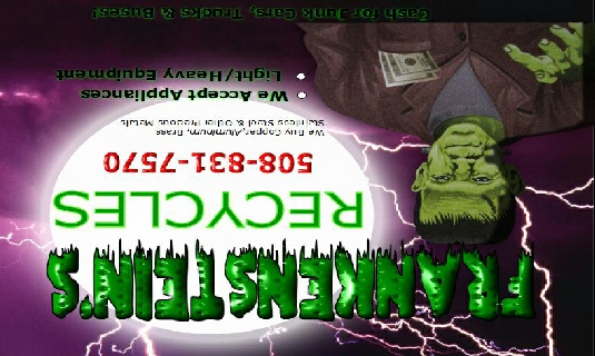 Frankenstein Recycling (Lost Local Advertisements)