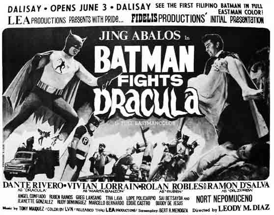 Batman Fights Dracula (1967 Filipino Film)
